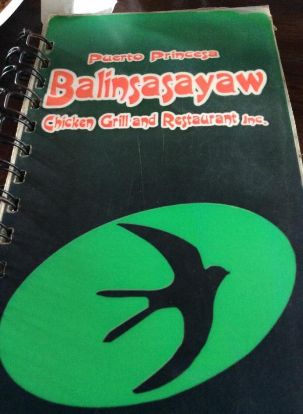 balin menu