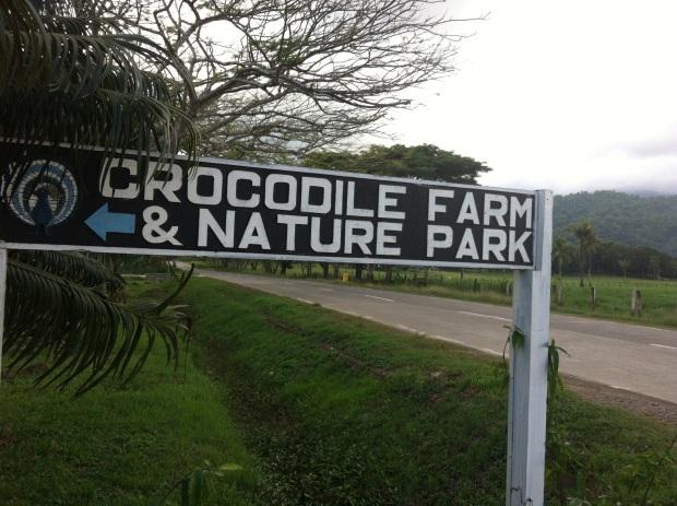 croc farm sign