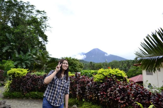My Selfie in Lucban, Quezon Province. Behind me is Mt Makiling.