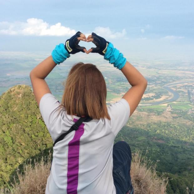 My heart over Mt Arayat Summit