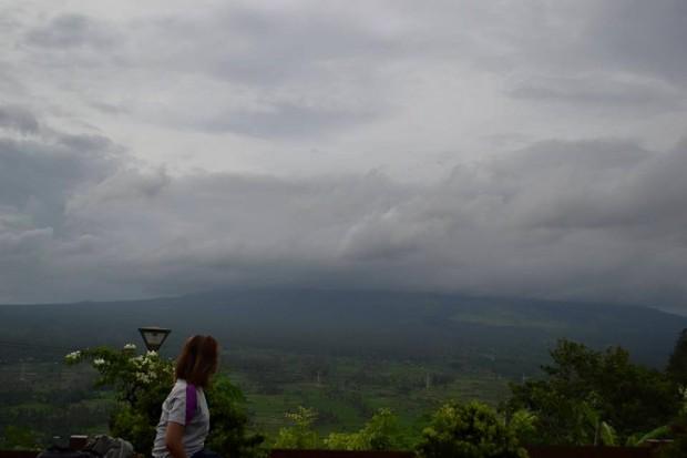 Sad moment overlooking Mt Mayon Albay