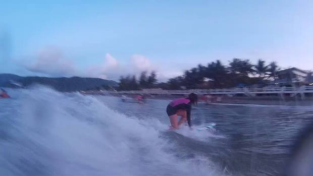 Second time to surf is harder. I can barely stand