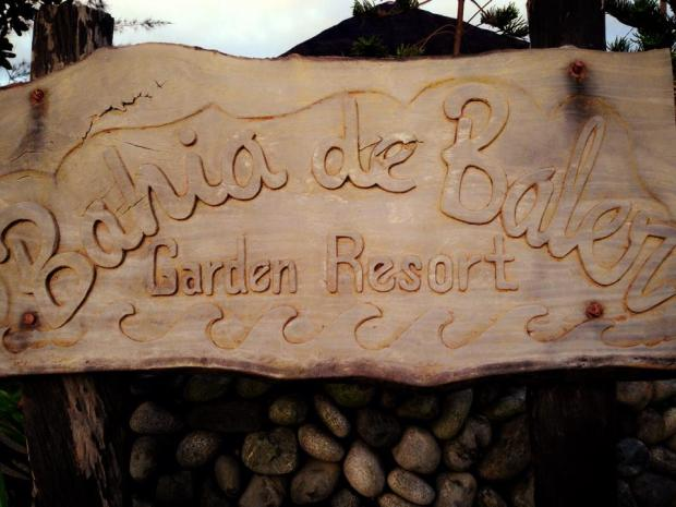 Signage of a Hotel in Baler. This is not our accommodating hotel though. Hehe