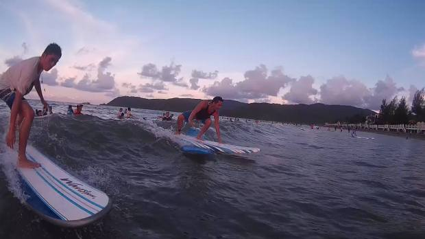 Some of the actions I took while my friends are enjoying their surf time