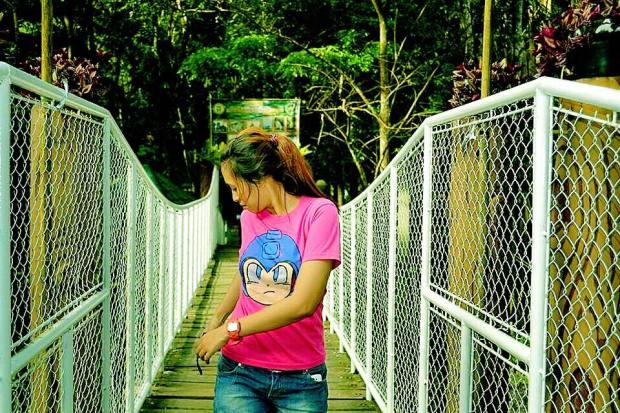 The Steel Bridge to Daranak Falls in Tanay Rizal