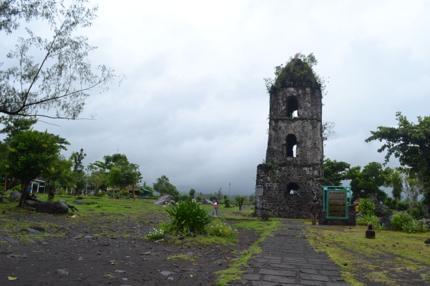 Cagsawa Ruin in a Cloudy Day