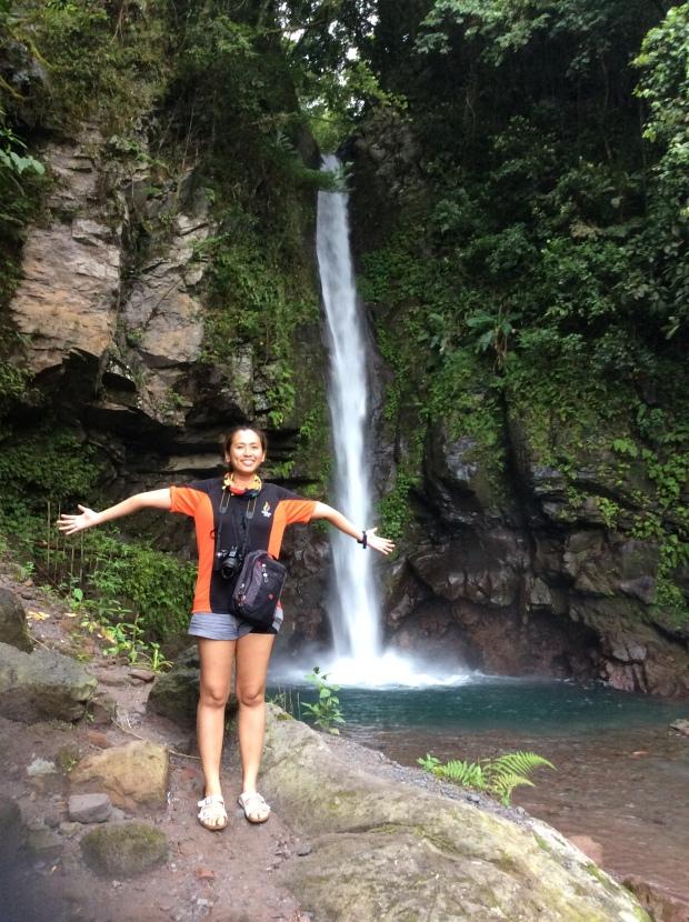 Capturing myself with Katibawasan Falls