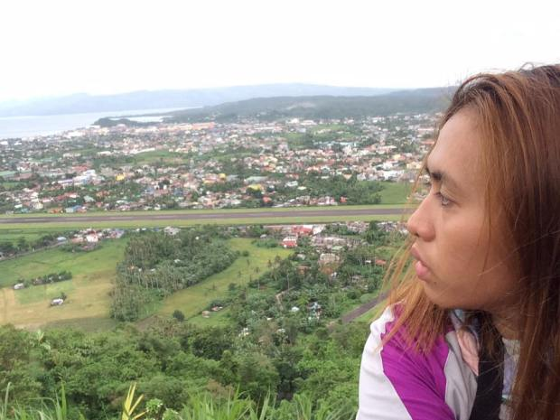Lignon Hill. Background is the Aiport Runway
