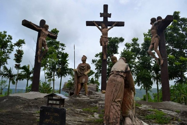 One of the Stations of the Cross in Kawa Kawa Hills