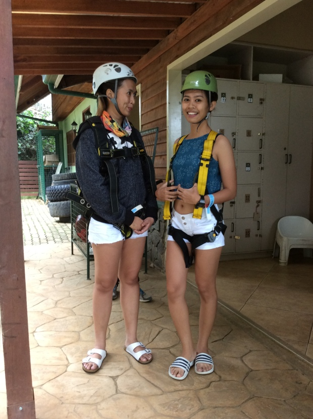 Safety harness for the shorter Zip Lines